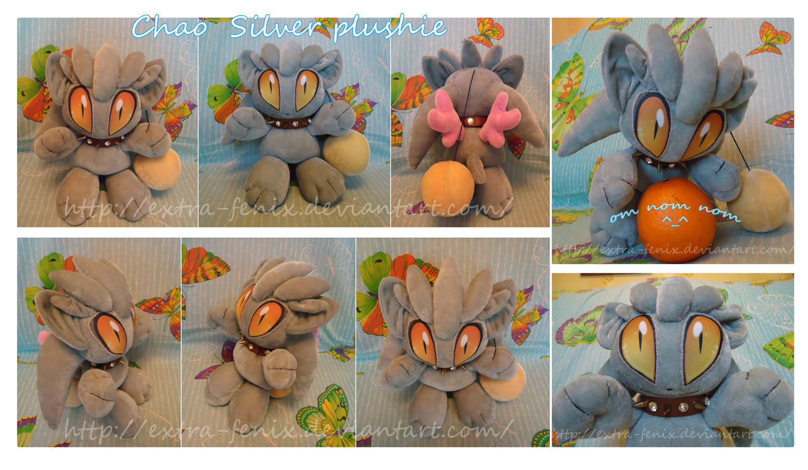 Chao Silver plushie by Extra-Fenix