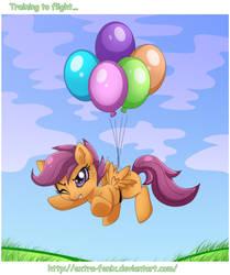 Scootaloo: training to flight...