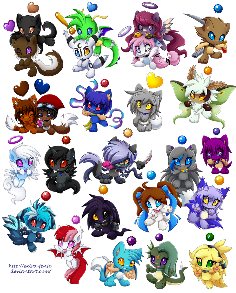 Commission set 8-25 chao by Extra-Fenix