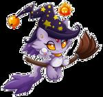 chao Blaze as witch