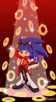Sonic the hedgehog ( Eggman's outfit)