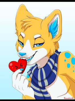 YCH 1 bite heart