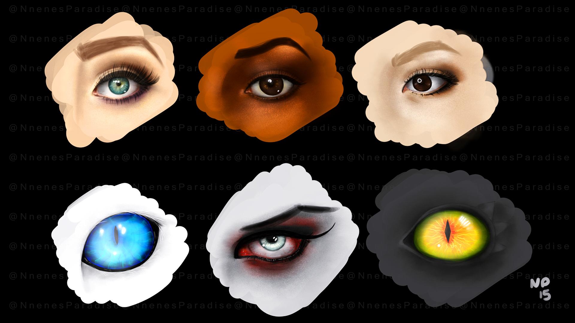 WEEKLY ART CHALLENGE #13 Eyes! (+video)