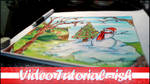 CHRISTMAS CHEAP ART SUPPLY CHALLENGE   VIDEO by just-caro