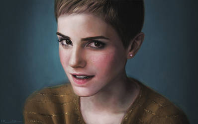 Emma Watson coloured by imorawetz