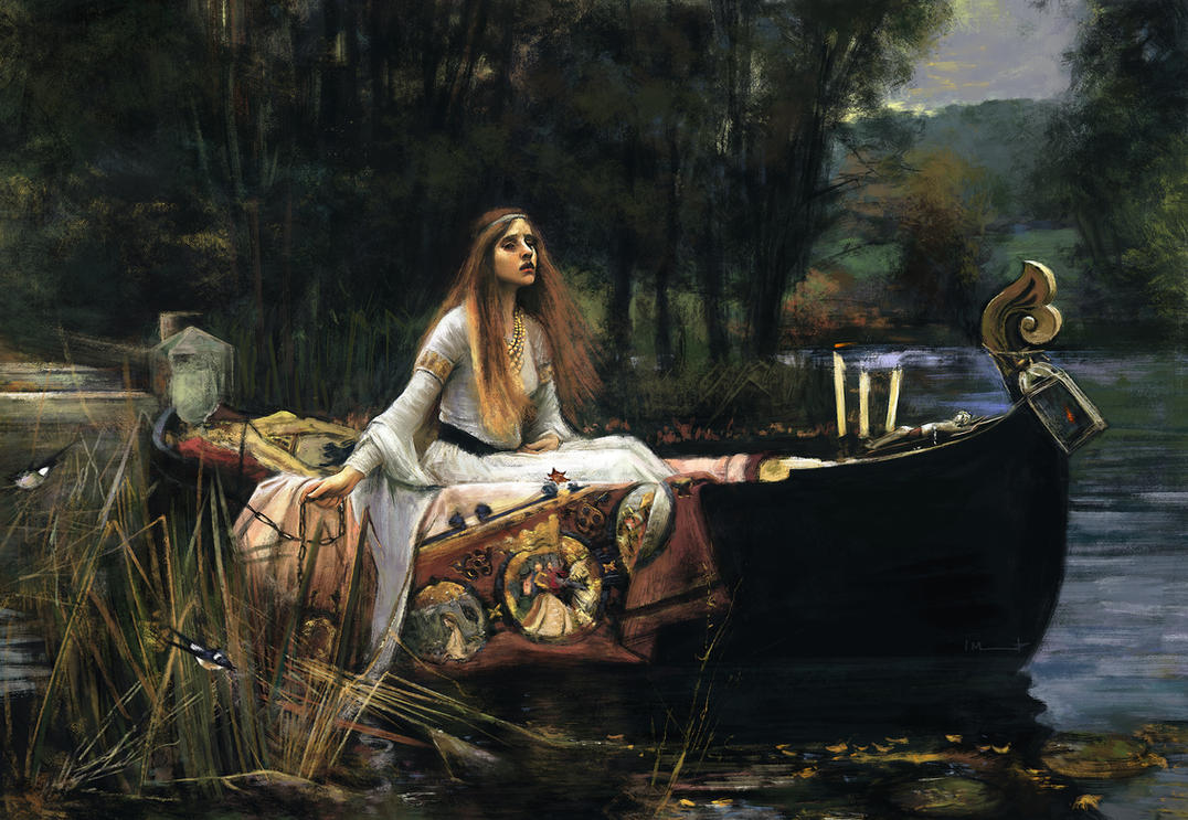 master study the lady of shalott by imorawetz on deviantart. Black Bedroom Furniture Sets. Home Design Ideas