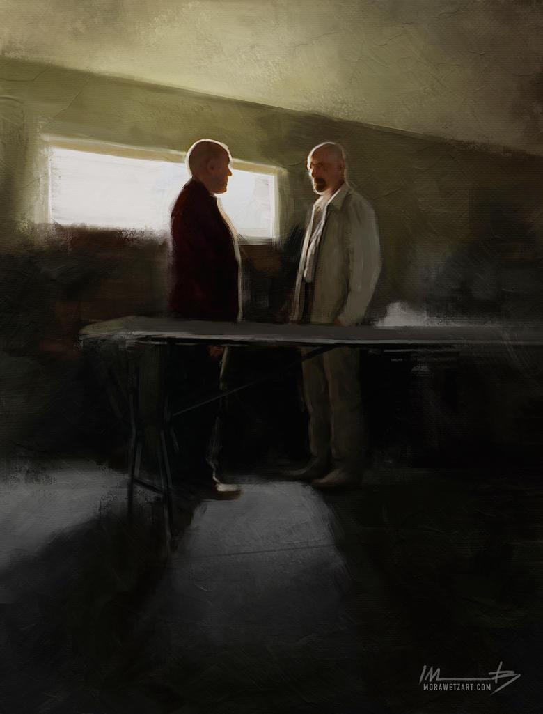 Hank vs Heisenberg by imorawetz