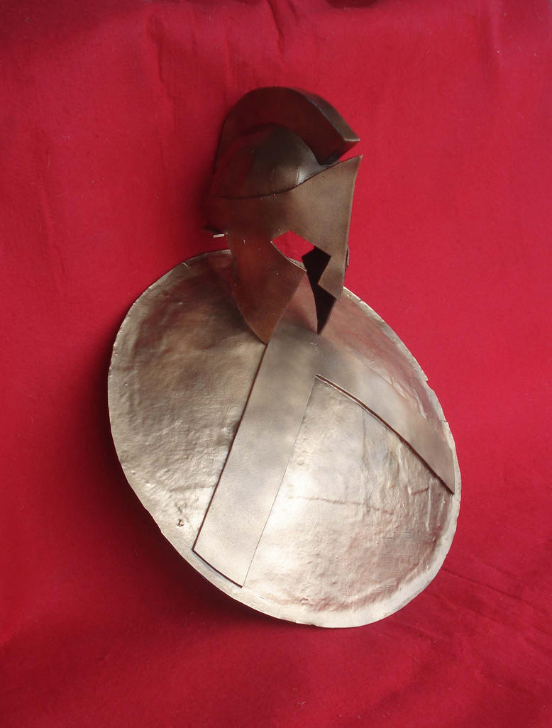 300 Spartan shield and Leonidas helmet by Regis-AND