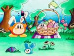 Kirby's Easter by GhostFullmetal