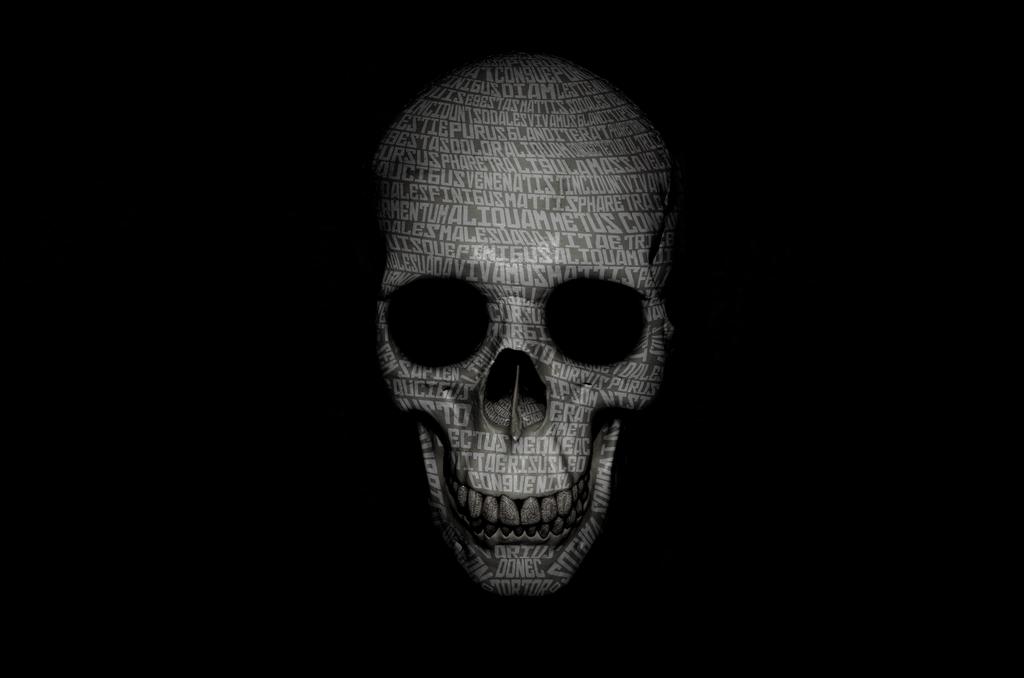 Typhograpgic skull by cikeno