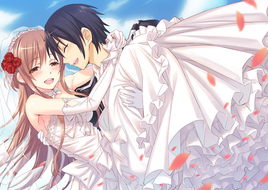 Kirito and Asuna's Wedding by flower8244 on DeviantArt