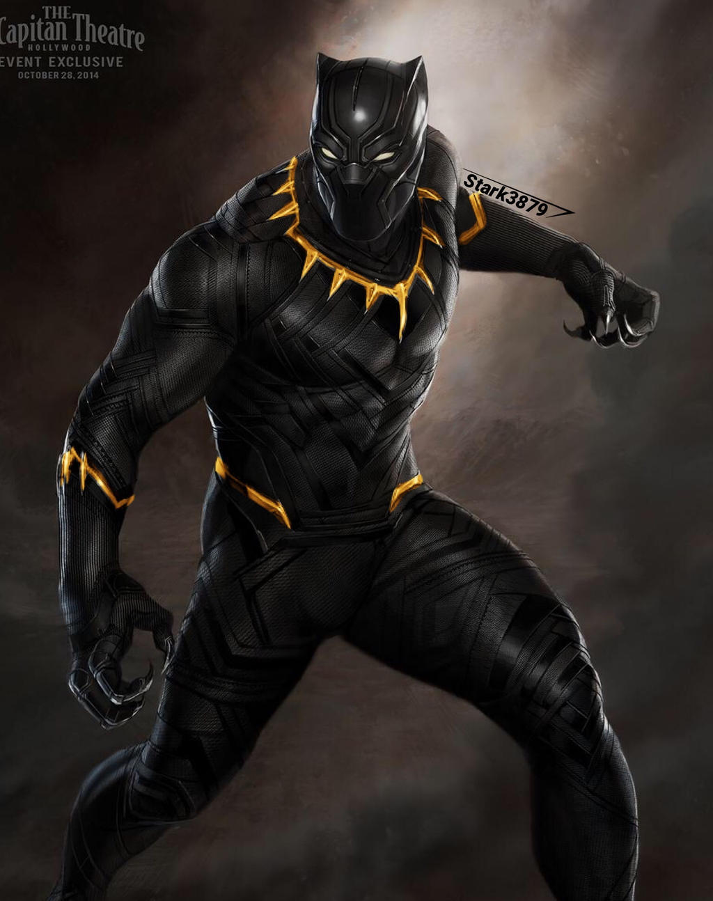 black panther with gold by stark3879 on deviantart. Black Bedroom Furniture Sets. Home Design Ideas