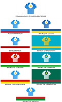Flags of Commonwealth of Independent States