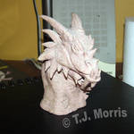 Dragon Sculpture Bust 2