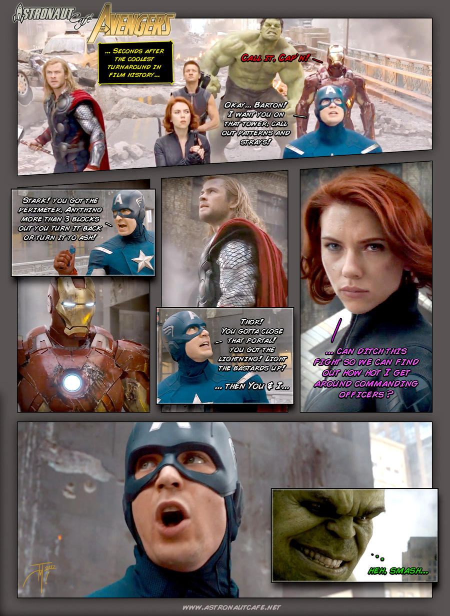 Astronaut Cafe vs Avengers - Call it, Cap'n by elasticdragon