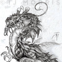 Eastland Marine Dragon pencil WIP