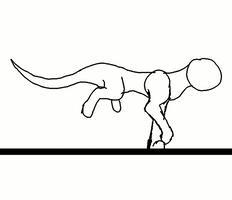 Wolf running animation test by littlelollypop