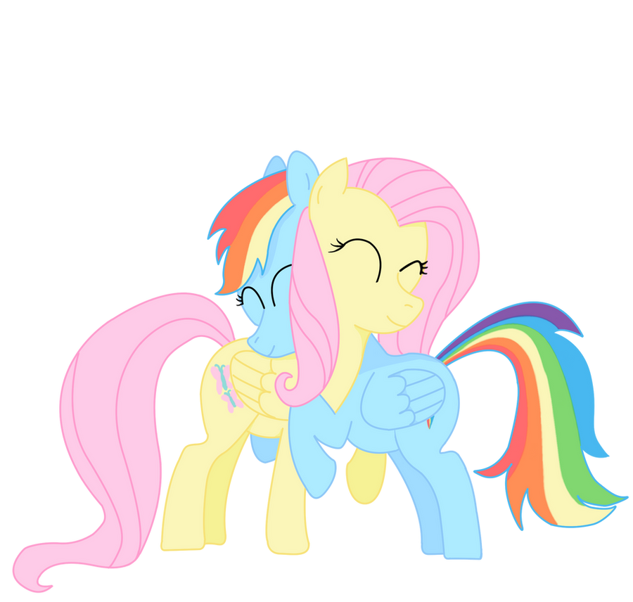 Rainbow Dash x Fluttershy Colored by krzykelly on DeviantArt: krzykelly.deviantart.com/art/Rainbow-Dash-x-Fluttershy-Colored...