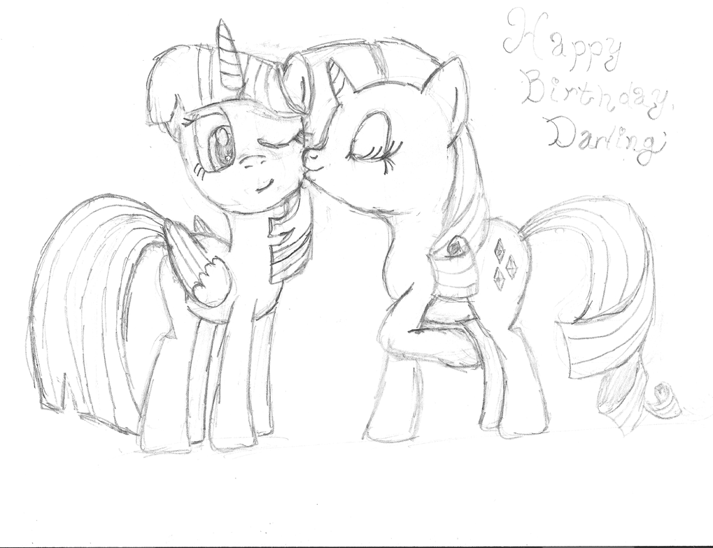 Birthday sketch! by krzykelly