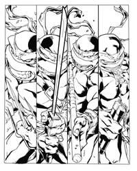 Ninja Turtles  TMNT   (inks) by etavitas