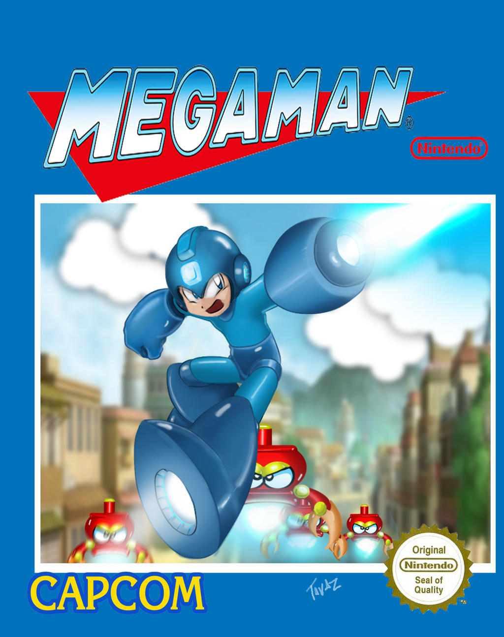 Megaman cover ness by etavitas on deviantart for Megaman 9 portada