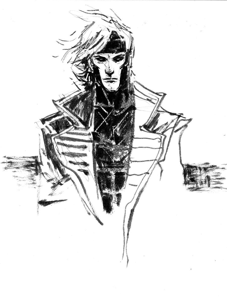 Gambit Sketch by aaronminier