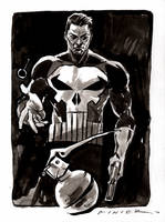 The Punisher : Inktober Day 6, 2016 by aaronminier