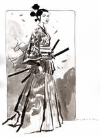 Samurai Girl : Inktober Day 8, 2016