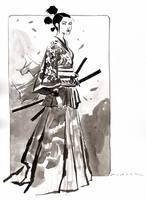Samurai Girl : Inktober Day 8, 2016