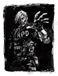 Inktober Day1 : Mindless (Zombie Leon Kennedy) by aaronminier