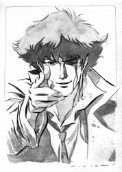Inktober 29: Injured (Spike Spiegel)