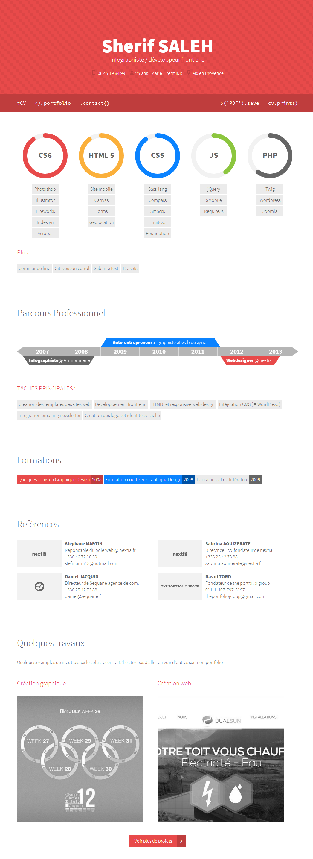web designer cv with html5 canvas by sherif0666 on deviantart