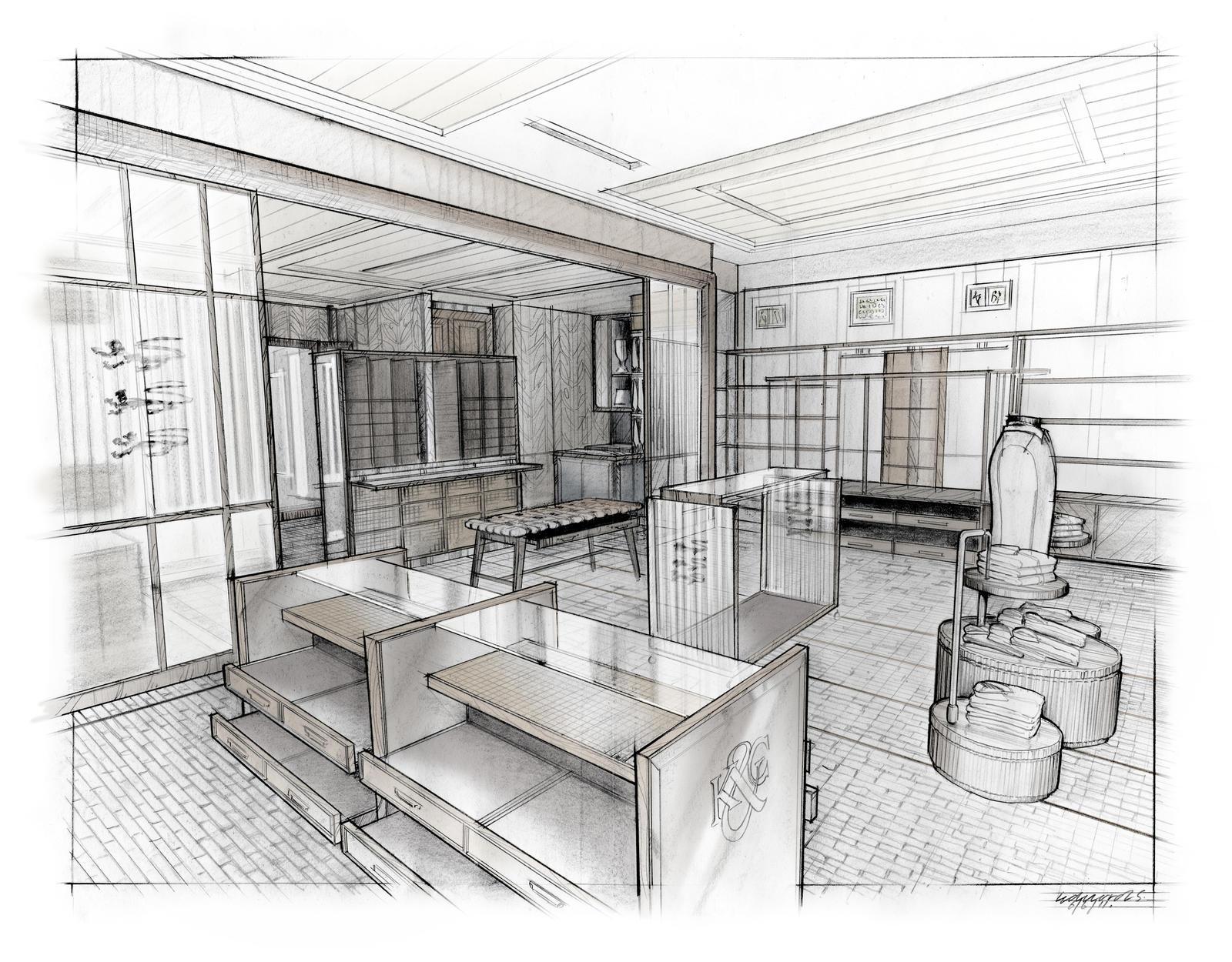 interior perspective render by dreadwardo