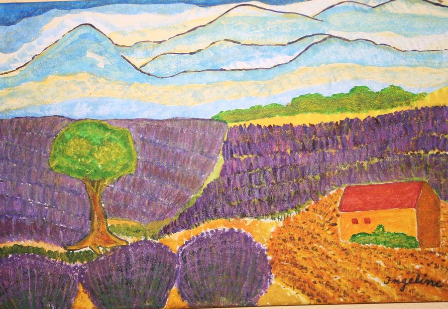 lavenderfield by ingeline-art