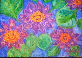 water lily love by ingeline-art