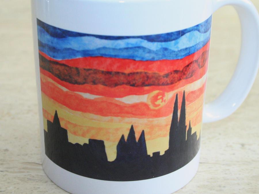 selfpainted mug by ingeline-art