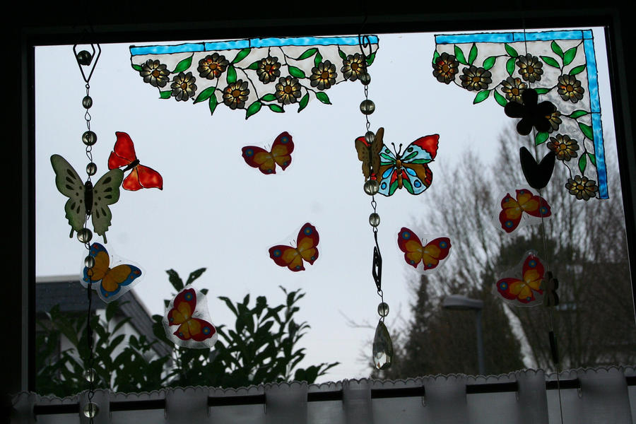 My new window decoration for spring by ingeline art on - Window decorations for spring ...