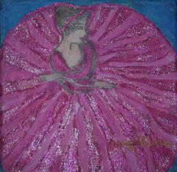 pink ballerina with glitter