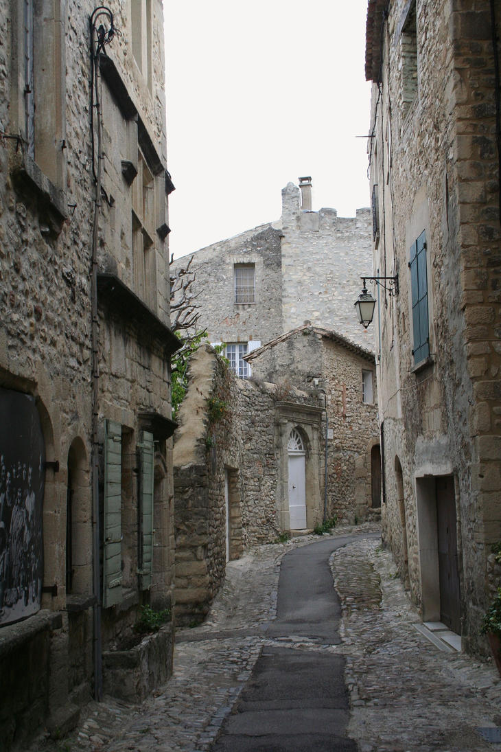 old village vaison la romaine by ingeline art on deviantart. Black Bedroom Furniture Sets. Home Design Ideas