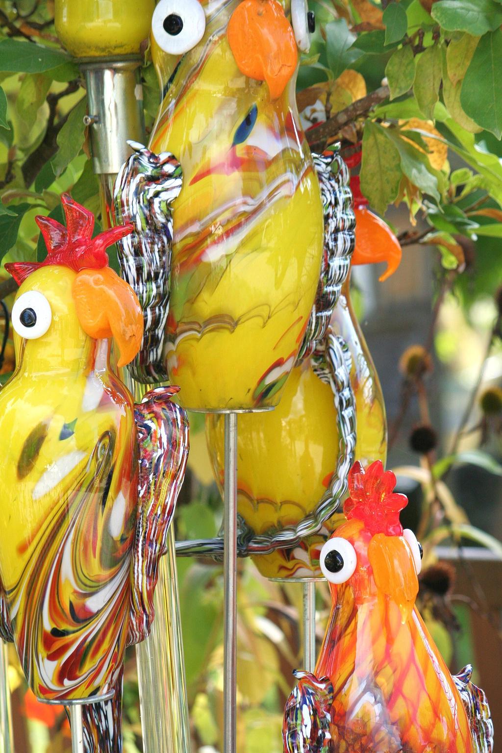 chicken glass art by ingeline-art
