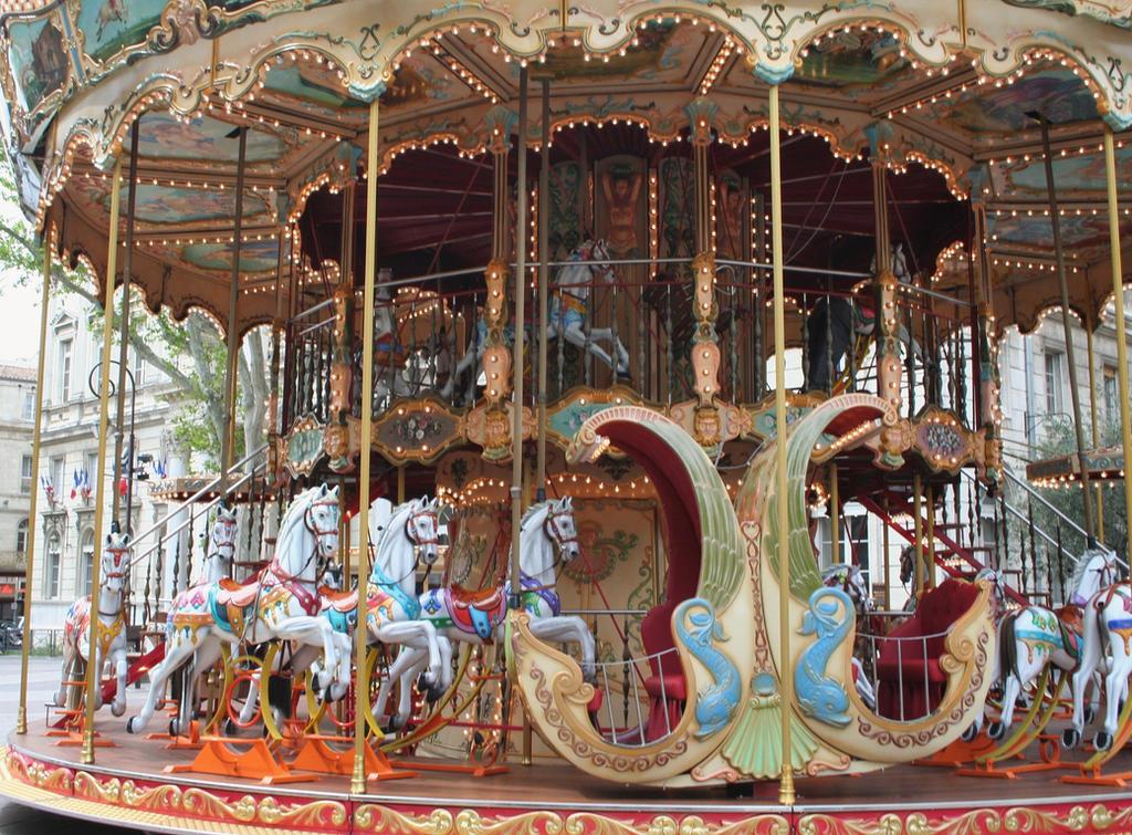 merry go round Avignon by ingeline-art
