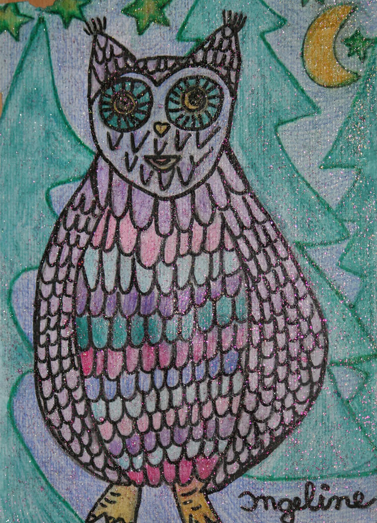 little shining owl by ingeline-art
