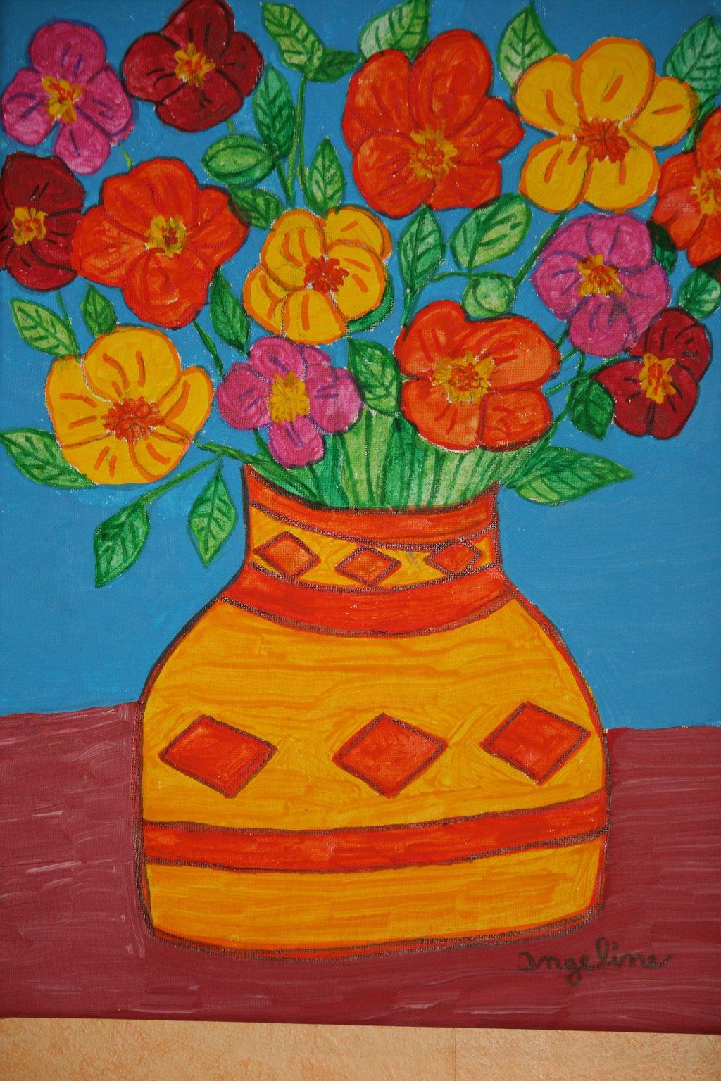 welcome spring flowers by ingeline-art