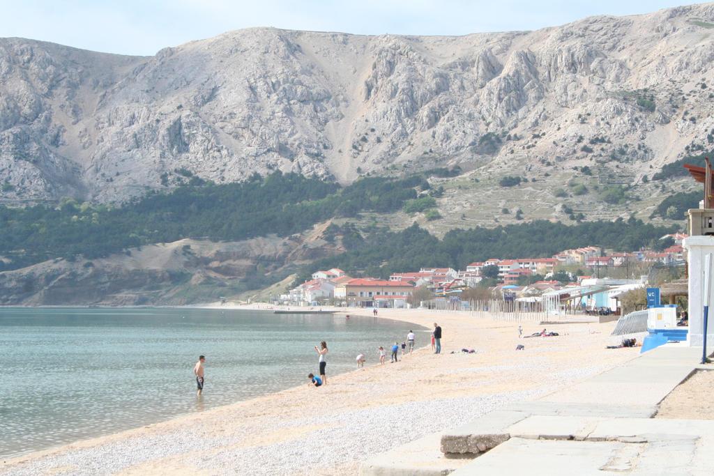 view to beach in Baska by ingeline-art