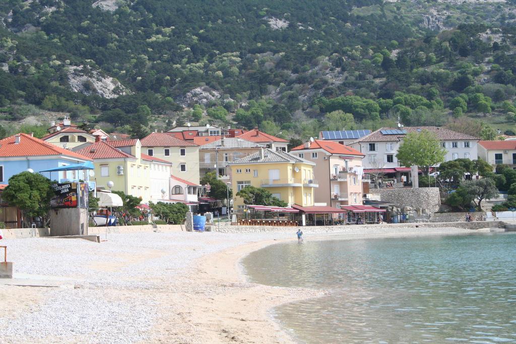 view to beach in Baska 2 by ingeline-art