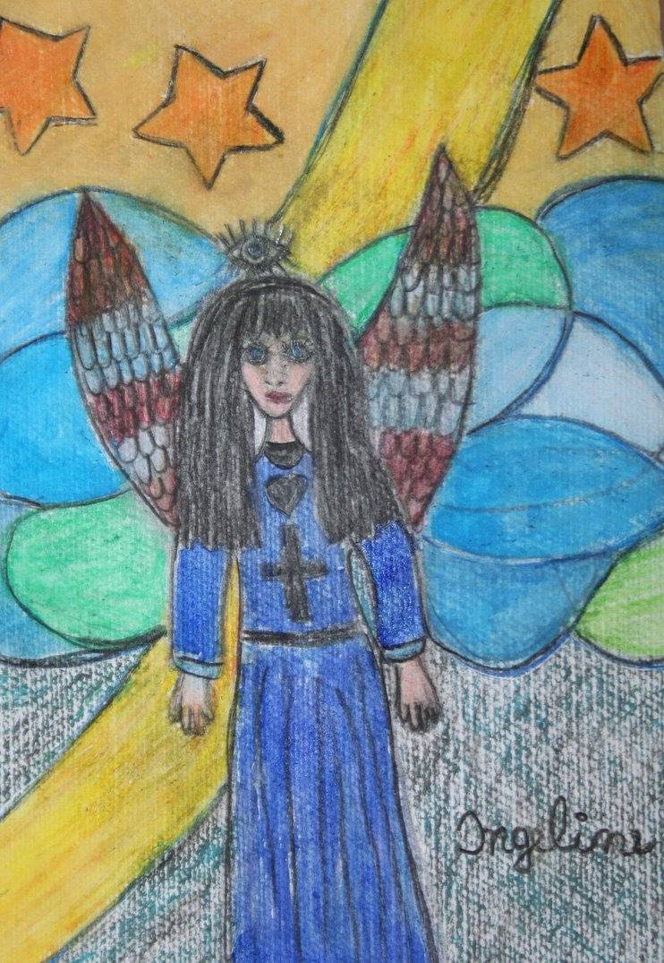 Angel of salvation for Dimi by ingeline-art