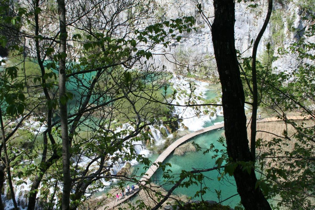 view at Plitvicer waterfalls by ingeline-art