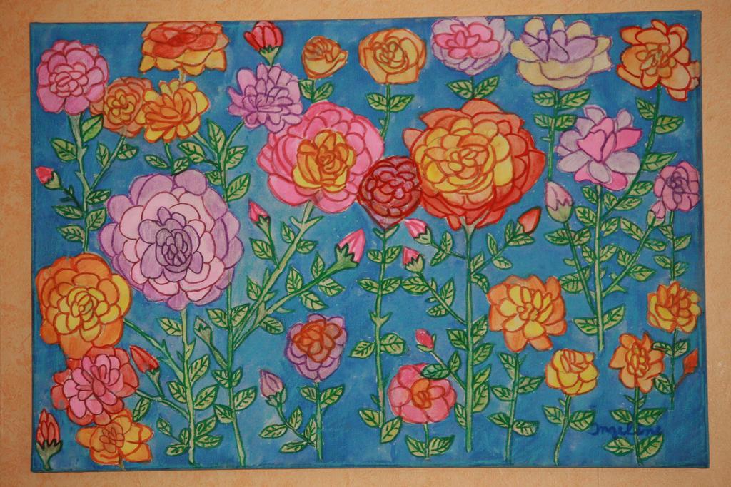 rose garden by ingeline-art