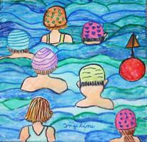 Happy swimmers by ingeline-art