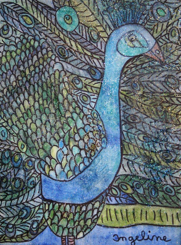 shining peacock by ingeline-art